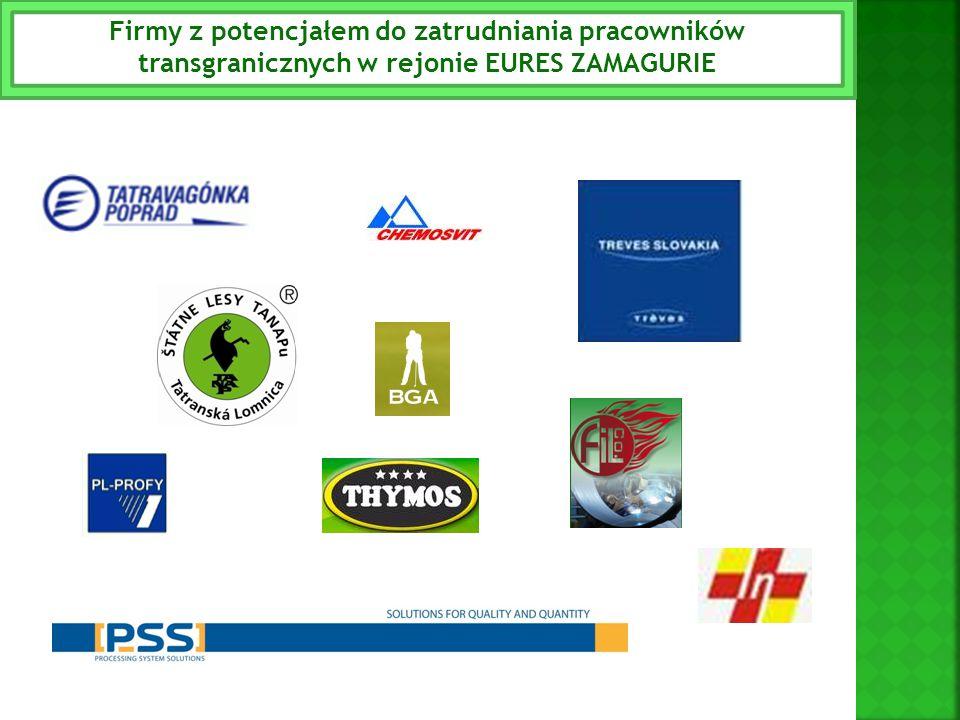 Firmy z potencjałem do zatrudniania pracowników transgranicznych w rejonie EURES ZAMAGURIE