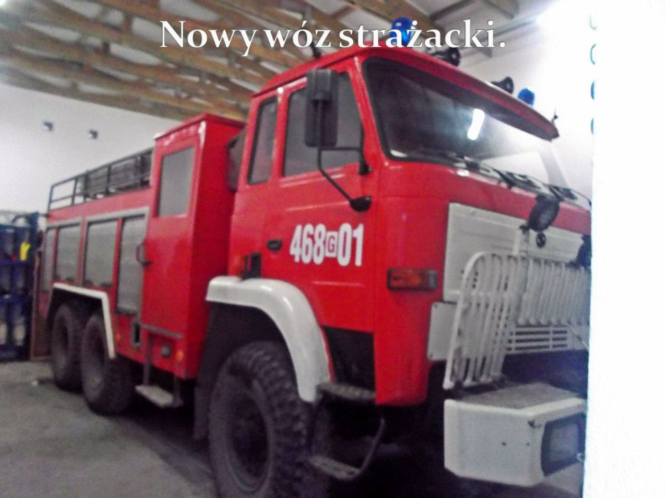 Nowy wóz strażacki.