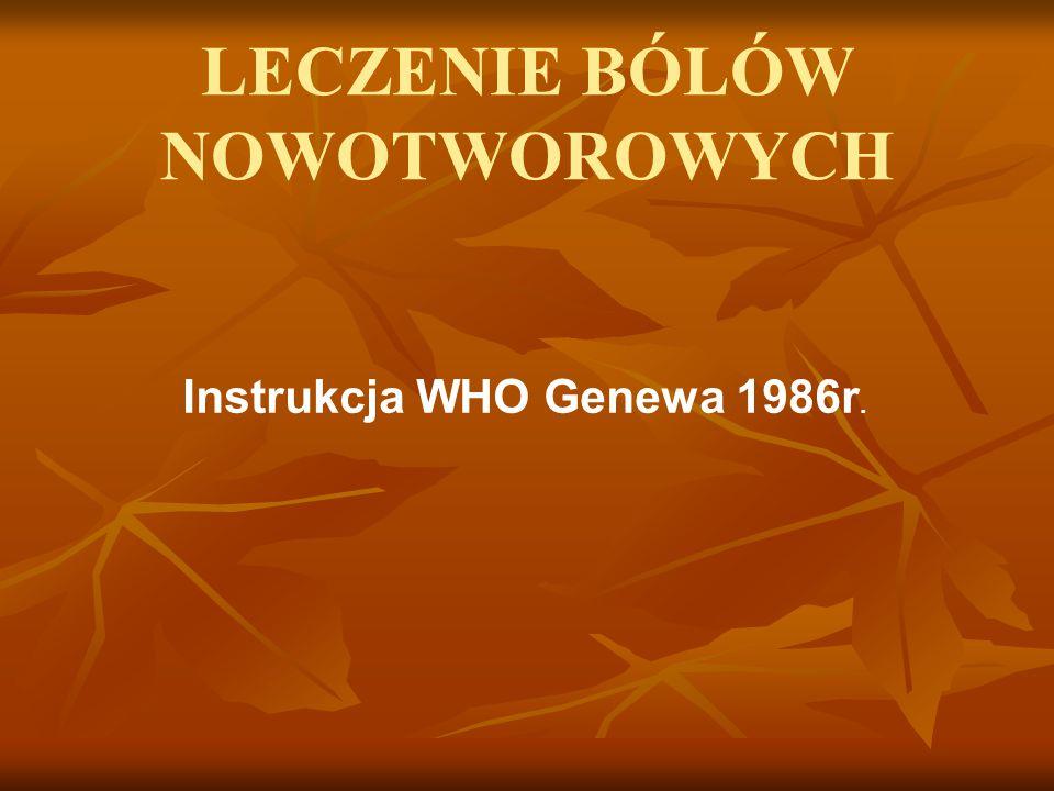 Instrukcja WHO Genewa 1986r.
