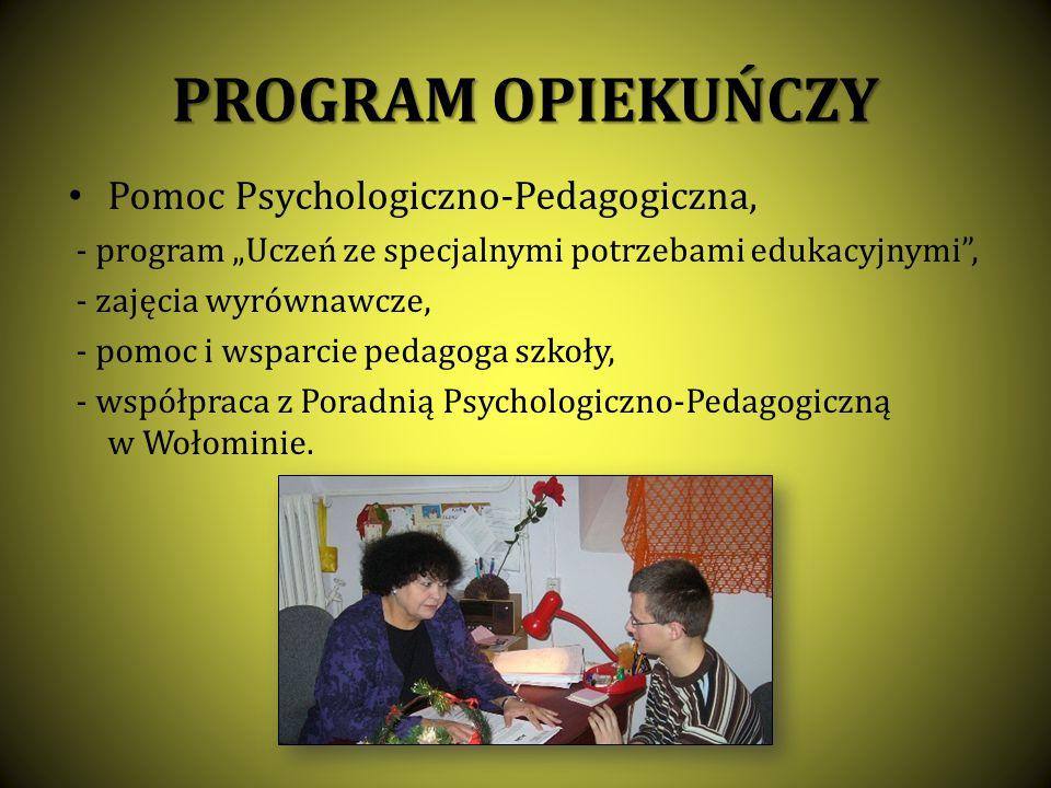 PROGRAM OPIEKUŃCZY Pomoc Psychologiczno-Pedagogiczna,