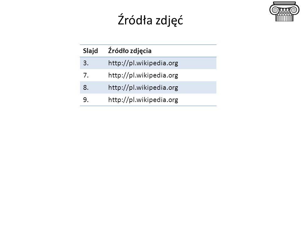 Źródła zdjęć Slajd Źródło zdjęcia 3. http://pl.wikipedia.org 7. 8. 9.