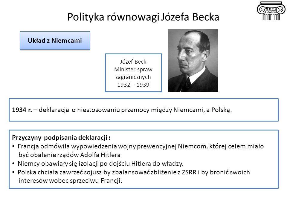 Polityka równowagi Józefa Becka