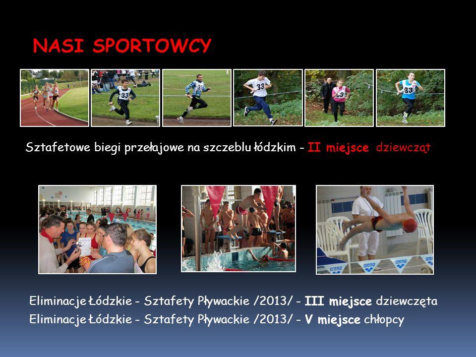 NASI SPORTOWCY Sztafetowe biegi przełajowe na szczeblu łódzkim - II miejsce dziewcząt.