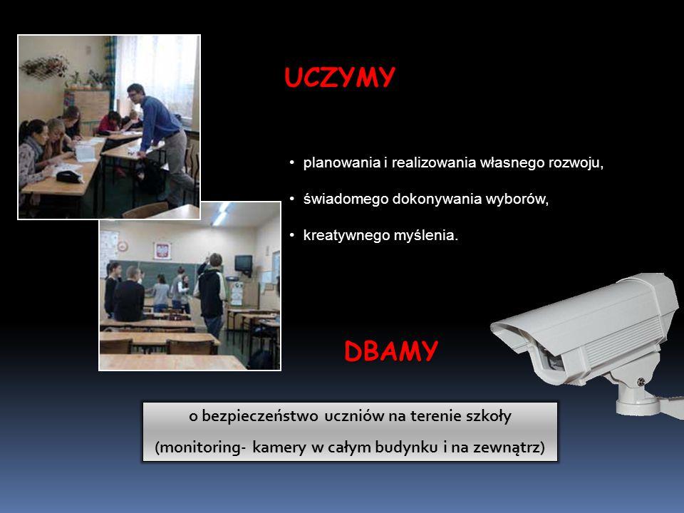 UCZYMY DBAMY o bezpieczeństwo uczniów na terenie szkoły