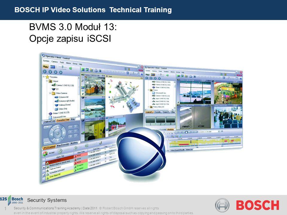 BVMS 3.0 Moduł 13: Opcje zapisu iSCSI