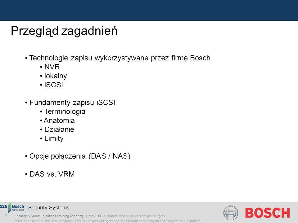 Przegląd zagadnień Technologie zapisu wykorzystywane przez firmę Bosch