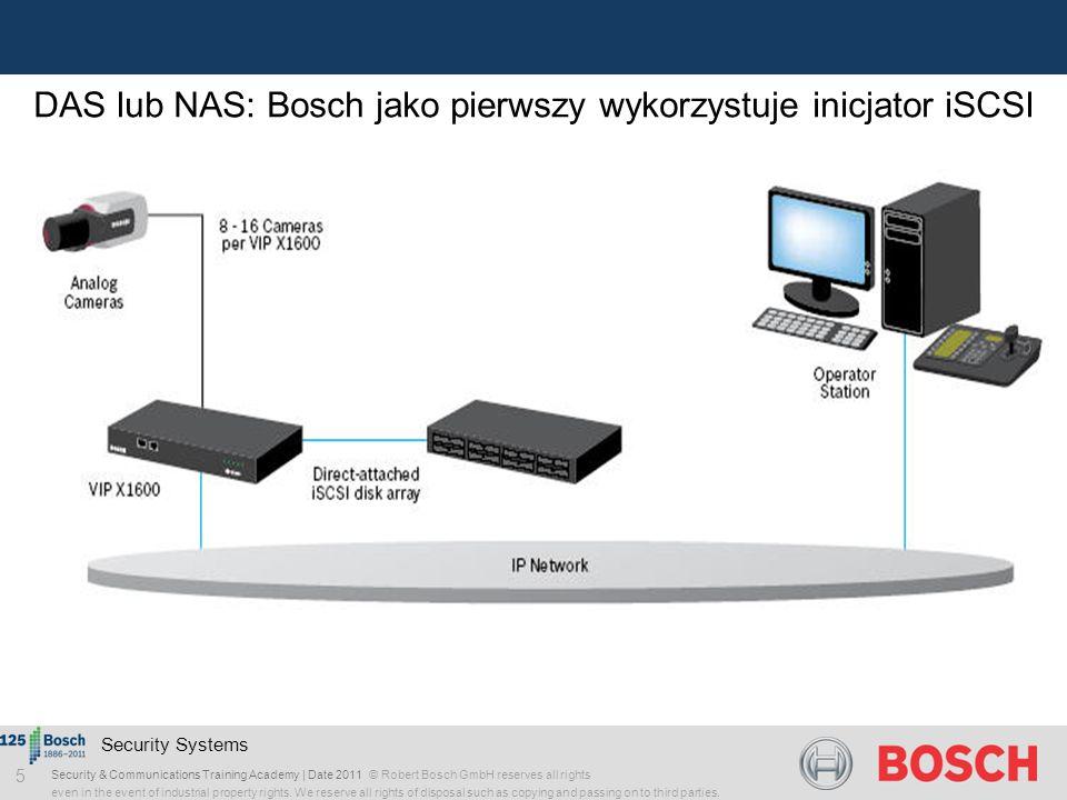 DAS lub NAS: Bosch jako pierwszy wykorzystuje inicjator iSCSI