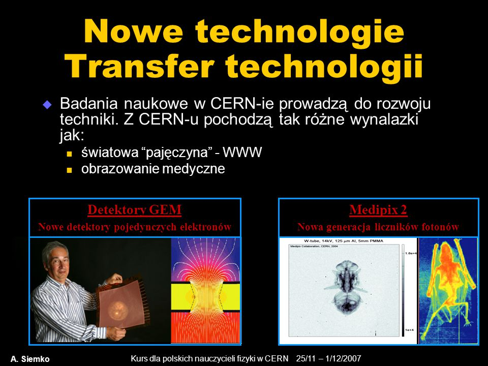 Nowe technologie Transfer technologii