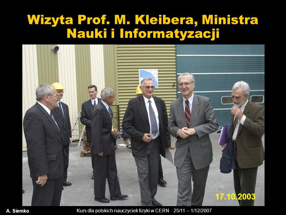 Wizyta Prof. M. Kleibera, Ministra Nauki i Informatyzacji
