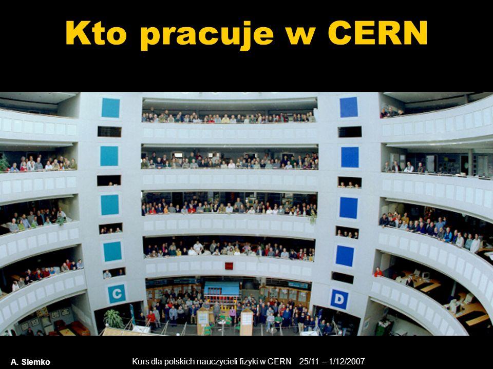 Kto pracuje w CERN A. Siemko