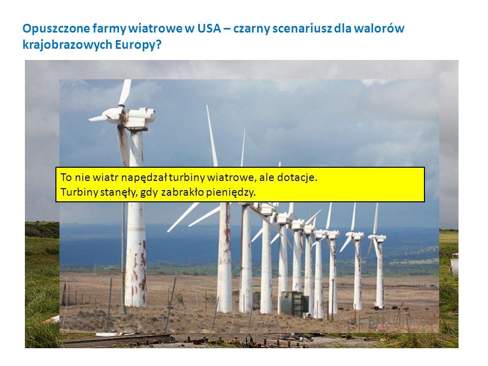 Opuszczone farmy wiatrowe w USA – czarny scenariusz dla walorów krajobrazowych Europy