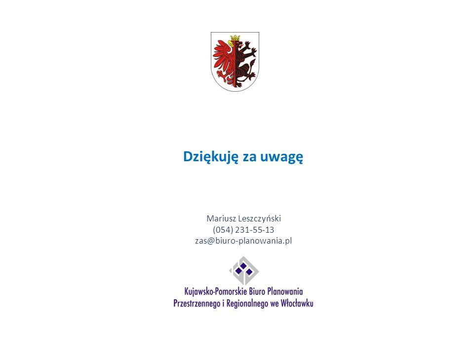 Dziękuję za uwagę Mariusz Leszczyński (054) 231-55-13