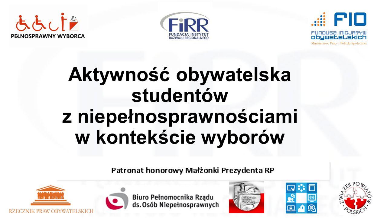 Pełnosprawny wyborca Aktywność obywatelska studentów z niepełnosprawnościami w kontekście wyborów