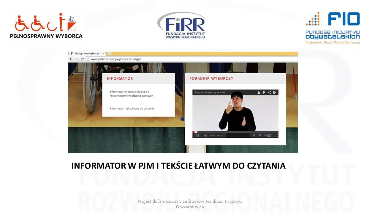 Projekt dofinansowany ze środków Funduszu Inicjatyw Obywatelskich