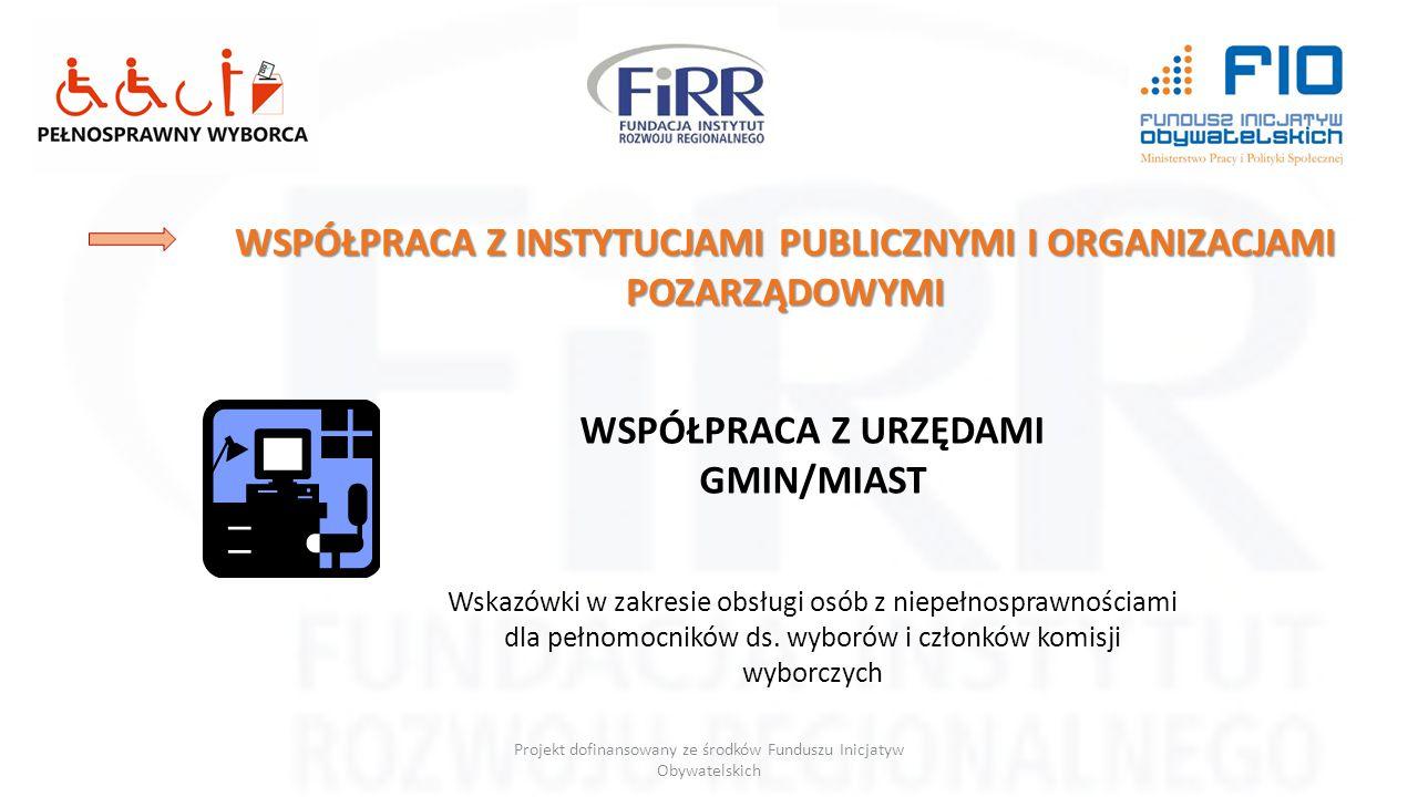 WSPÓŁPRACA Z INSTYTUCJAMI PUBLICZNYMI I ORGANIZACJAMI POZARZĄDOWYMI