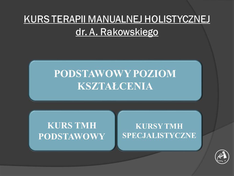 KURS TERAPII MANUALNEJ HOLISTYCZNEJ dr. A. Rakowskiego