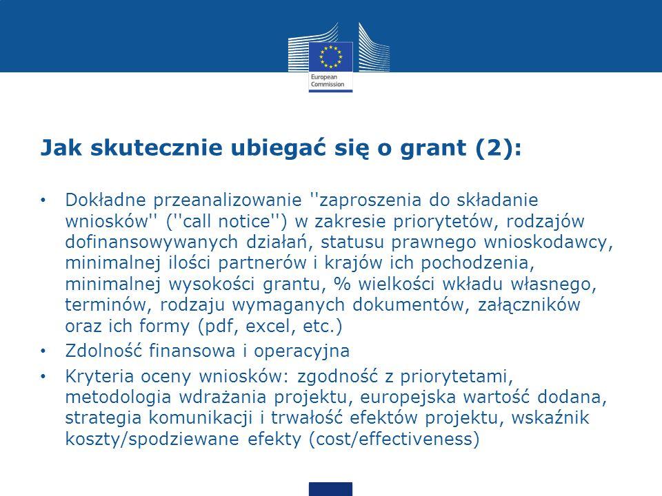 Jak skutecznie ubiegać się o grant (2):
