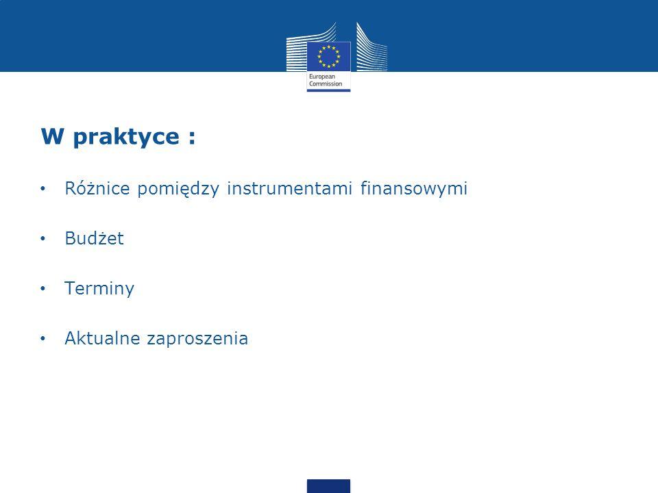 W praktyce : Różnice pomiędzy instrumentami finansowymi Budżet Terminy