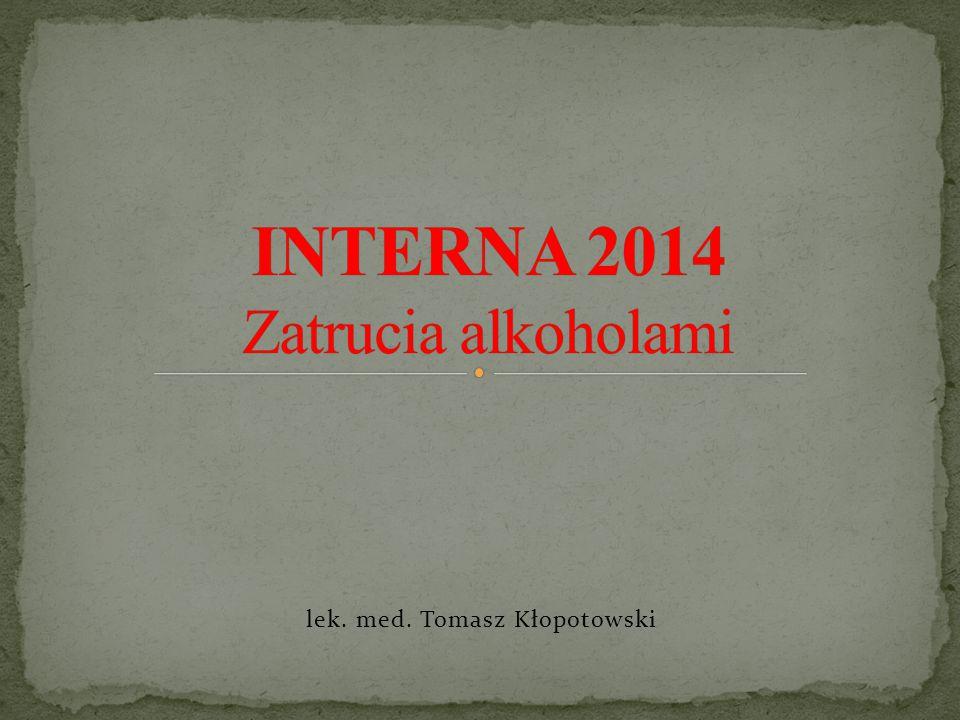 INTERNA 2014 Zatrucia alkoholami