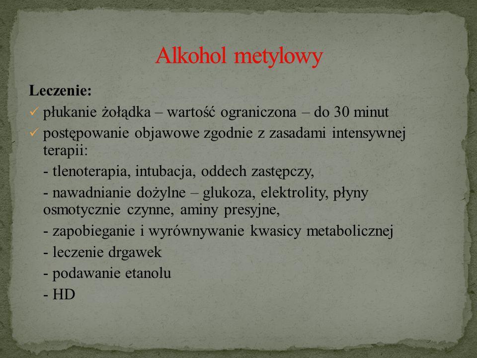 Alkohol metylowy Leczenie: