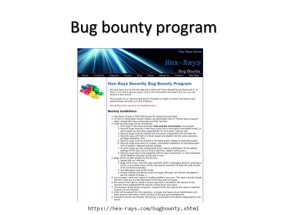 https://hex-rays.com/bugbounty.shtml