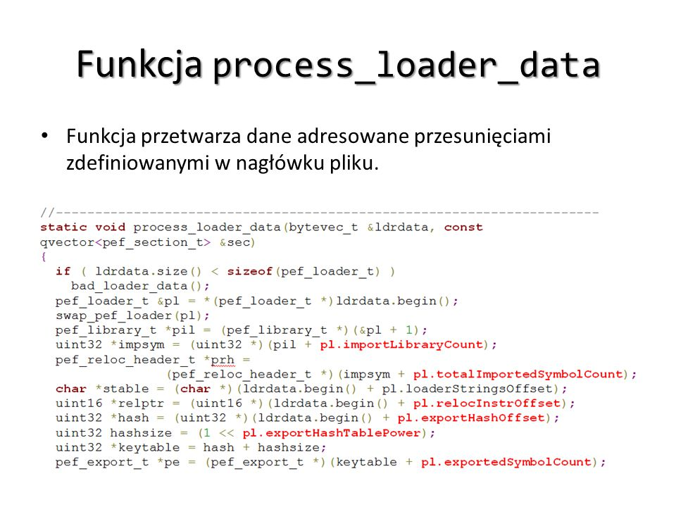 Funkcja process_loader_data