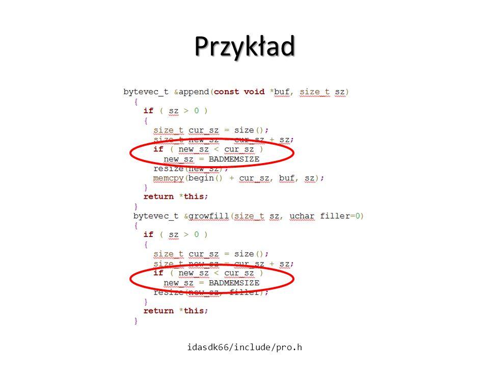 Przykład idasdk66/include/pro.h