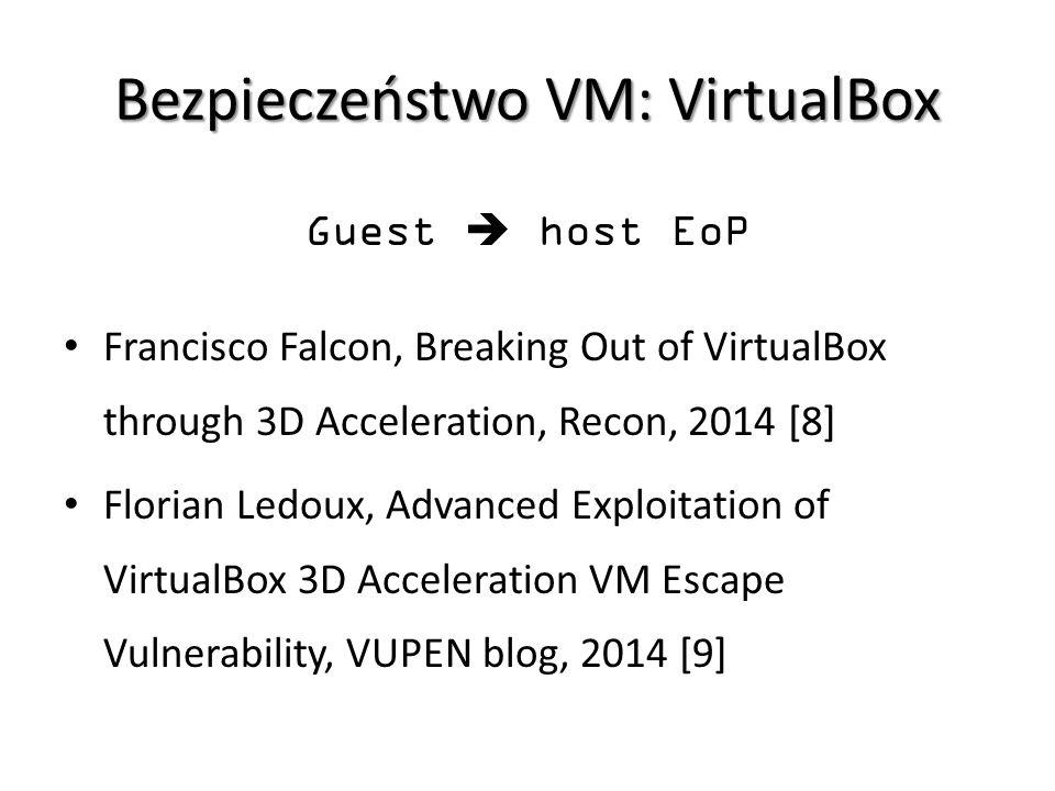 Bezpieczeństwo VM: VirtualBox
