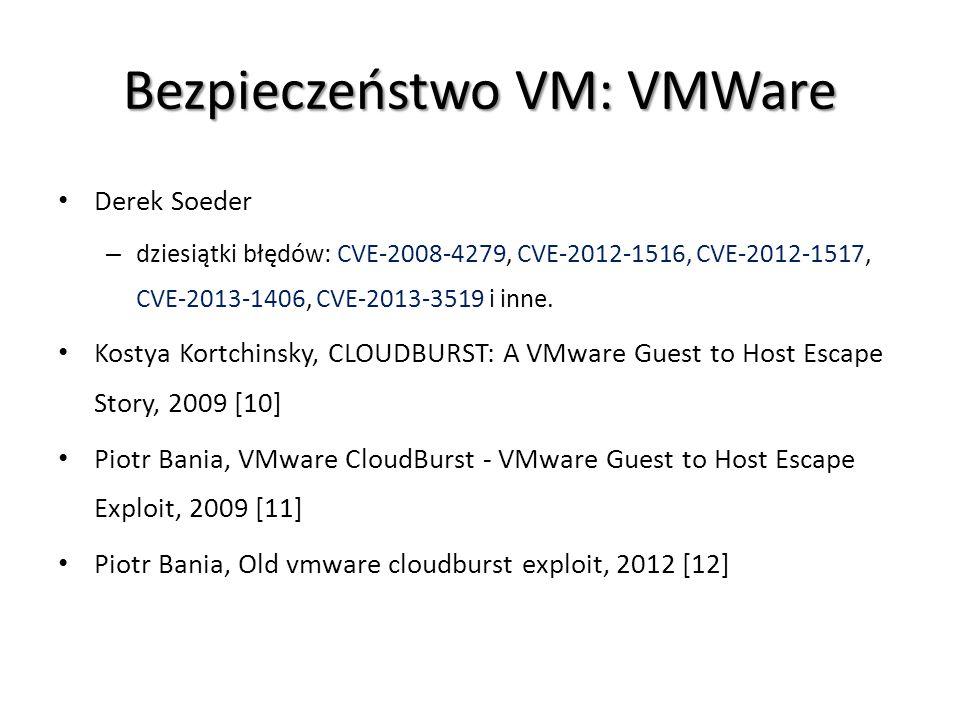 Bezpieczeństwo VM: VMWare