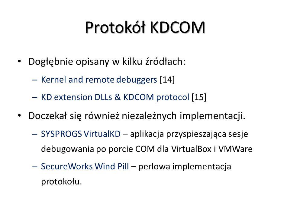 Protokół KDCOM Dogłębnie opisany w kilku źródłach: