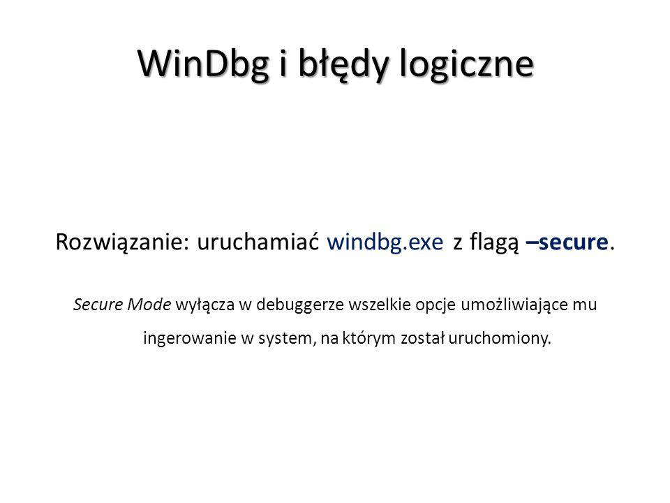 WinDbg i błędy logiczne