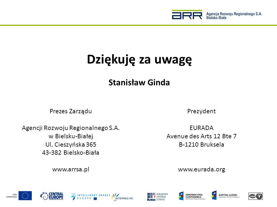 Agencji Rozwoju Regionalnego S.A. w Bielsku-Białej