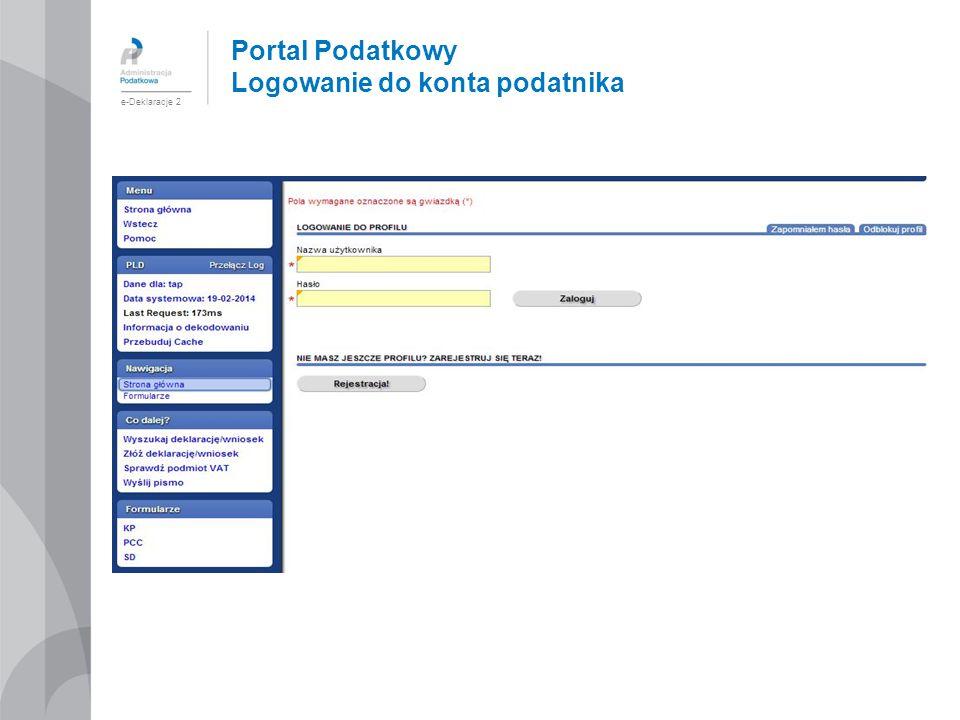 Portal Podatkowy Logowanie do konta podatnika