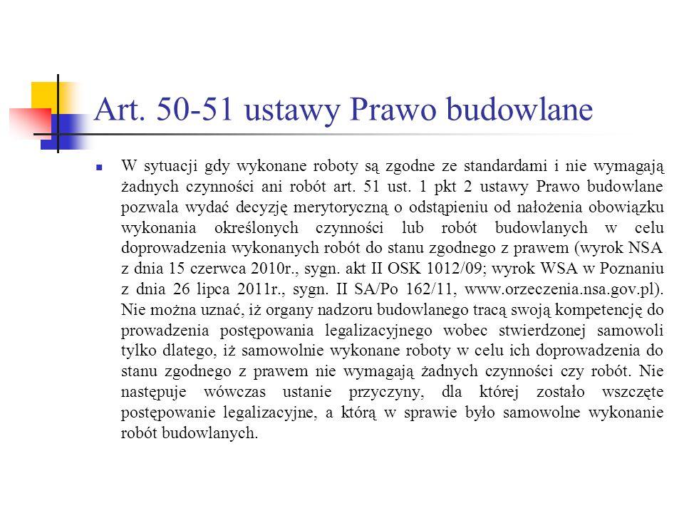 Art. 50-51 ustawy Prawo budowlane