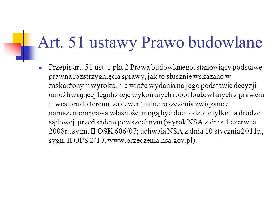 Art. 51 ustawy Prawo budowlane