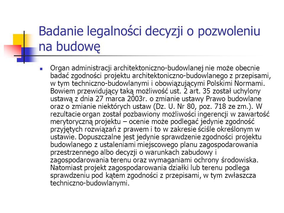 Badanie legalności decyzji o pozwoleniu na budowę