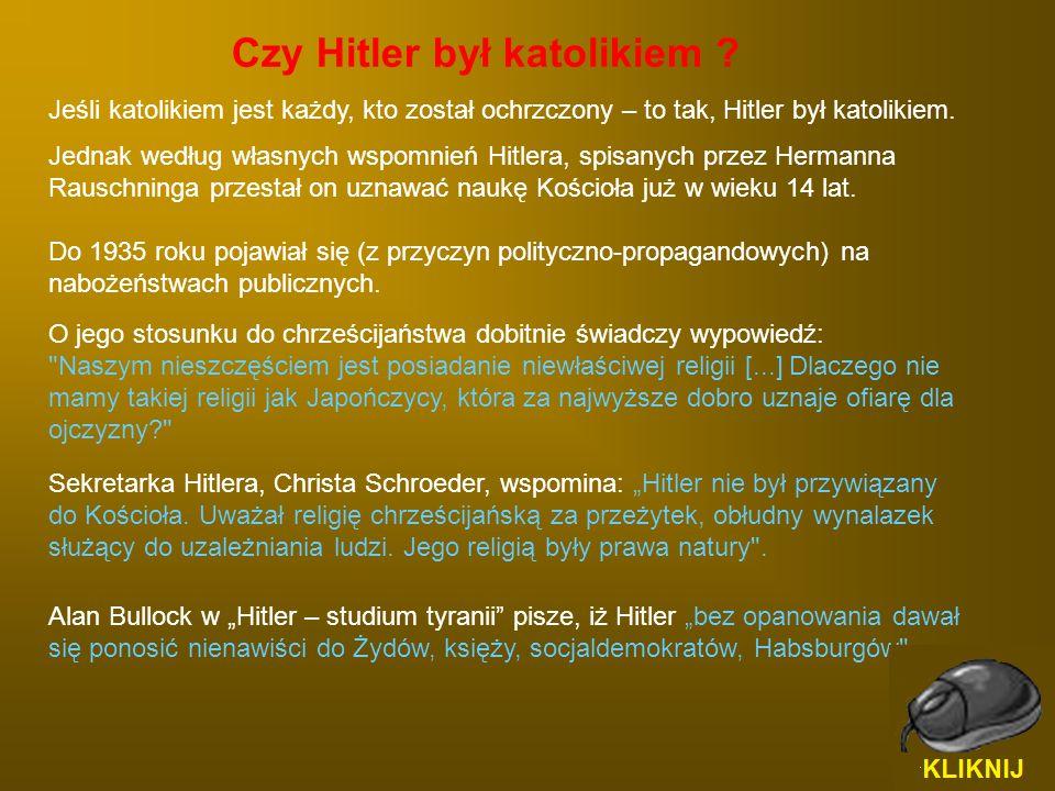 Czy Hitler był katolikiem