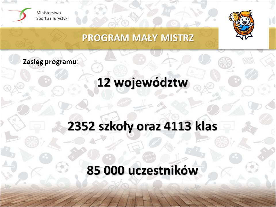 12 województw 2352 szkoły oraz 4113 klas