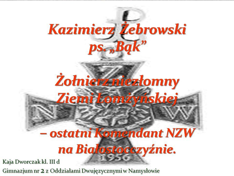 Kazimierz Żebrowski ps