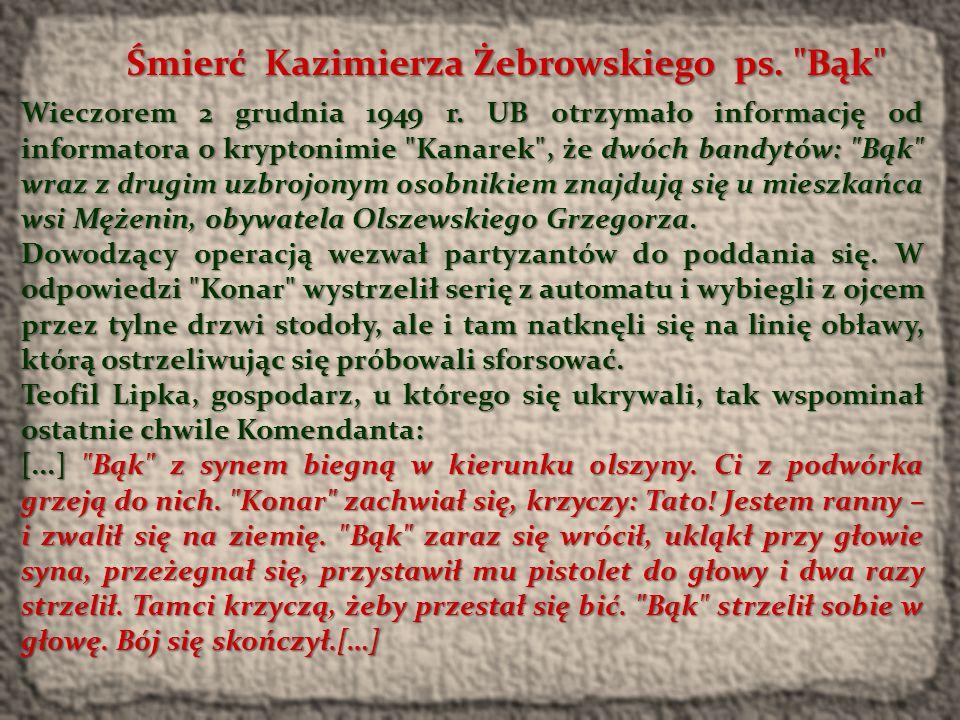 Śmierć Kazimierza Żebrowskiego ps. Bąk
