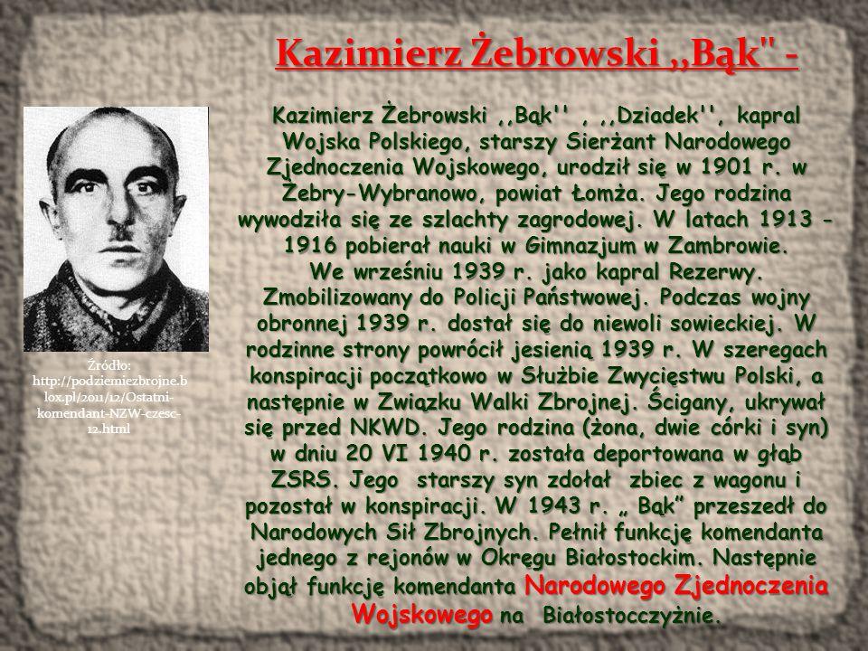 Kazimierz Żebrowski ,,Bąk -