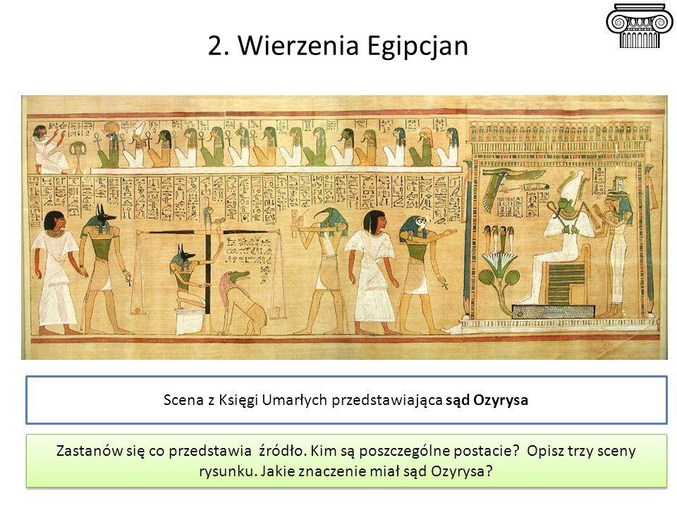 Scena z Księgi Umarłych przedstawiająca sąd Ozyrysa