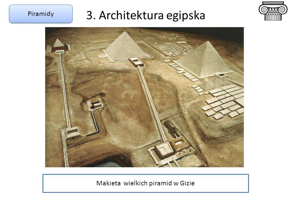 Makieta wielkich piramid w Gizie