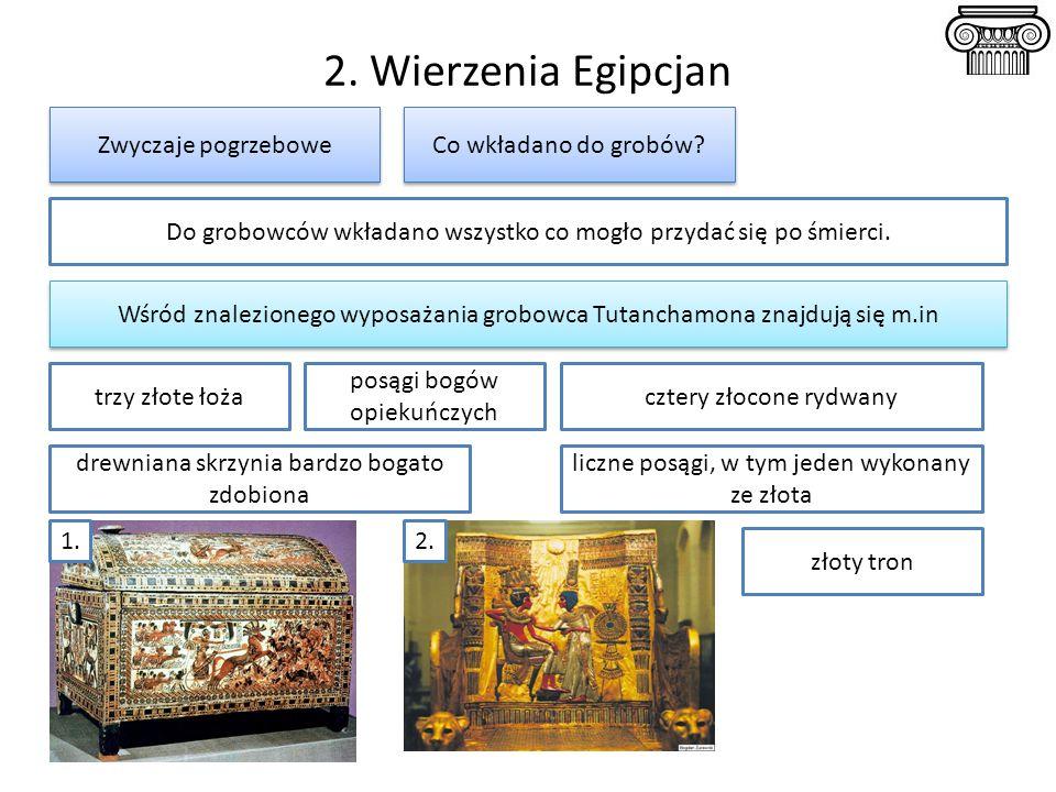 2. Wierzenia Egipcjan Zwyczaje pogrzebowe Co wkładano do grobów