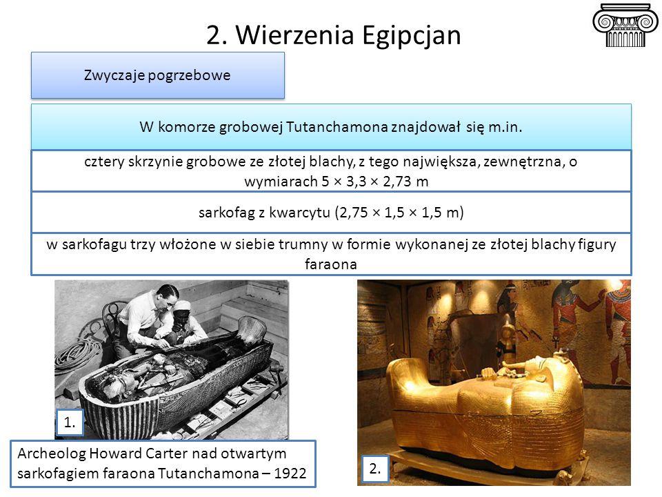2. Wierzenia Egipcjan Zwyczaje pogrzebowe