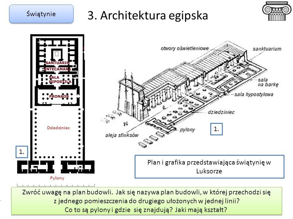 3. Architektura egipska Świątynie 1. 1.