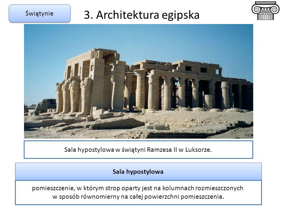 3. Architektura egipska Świątynie
