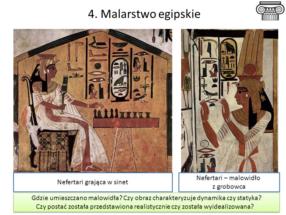 Nefertari grająca w sinet