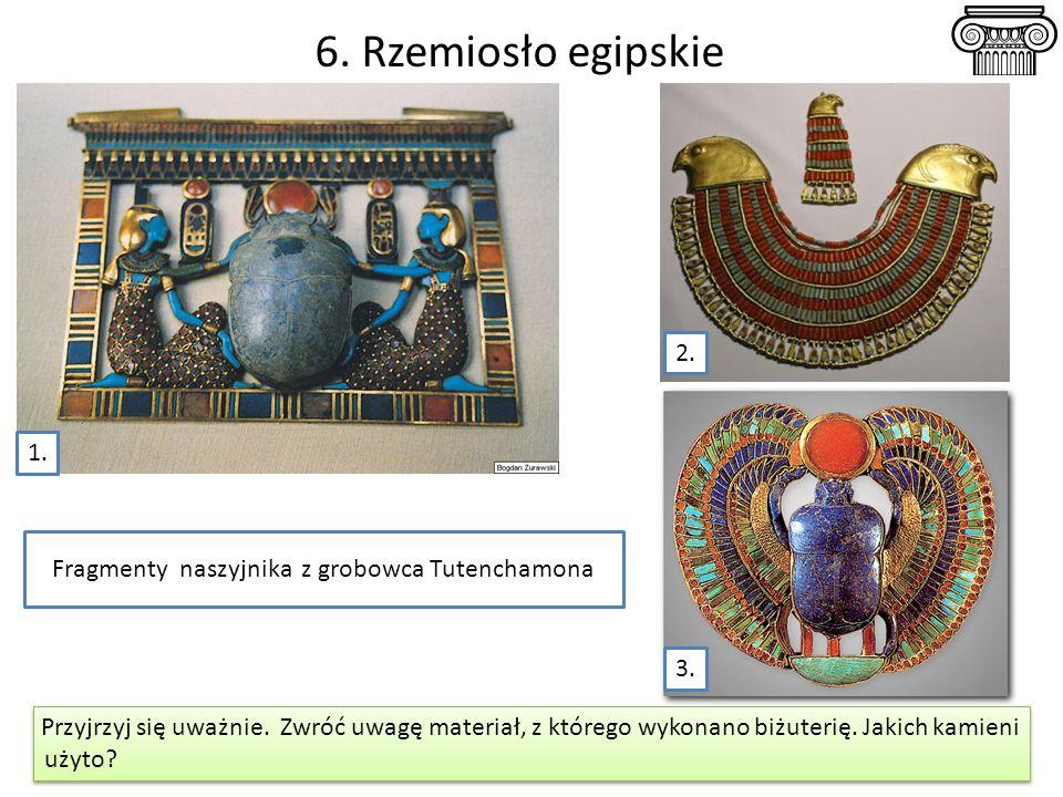 Fragmenty naszyjnika z grobowca Tutenchamona