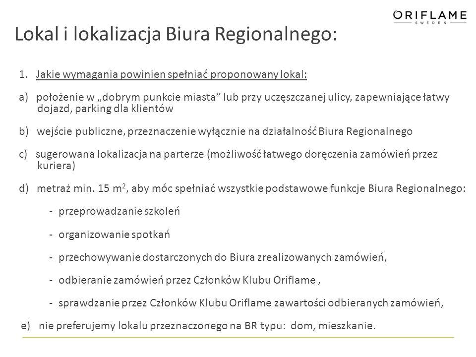 Lokal i lokalizacja Biura Regionalnego: